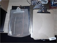 Office Supplies On Top Of Table Clipboards Canon