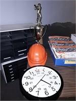 Clock, Safety Helmet, Trophy
