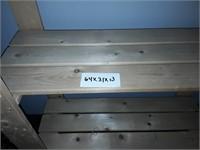 4 Item Lot 2 Door Cabinet, Shelf, 2 Tables