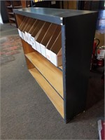 3 Tier Wooden Shelf with cardboard organizers