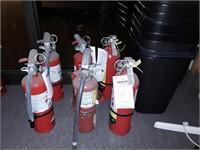 Group Of 6 Fire Extinguishers