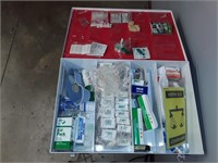 Metal Cabinet First Aid Kit And Stretcher