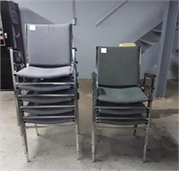 8 Stacking Chairs