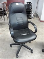 4 Leather-like Office Chairs