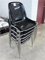 5 Plastic Stacking Chairs