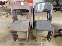 13 Metal Stacking Chairs