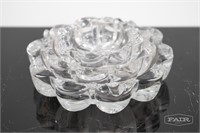 Set of 3 Glass Stacking Round Ribbed Dishes