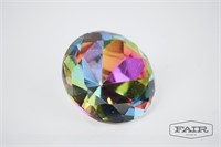 Diamond and Heart Globe Paperweights