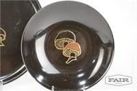 Couroc Mushroom Plate and Bowl