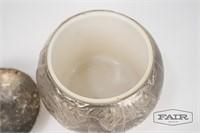 Silver Plate World Globe Ice Bucket