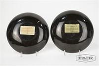 Pair of Couroc Pelican Bowls