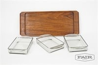 Laurids Lonborg Denmark Tray w/ 3 Glass Containers