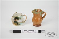 Miniature Pottery Pitcher and Nippon Japan Vase