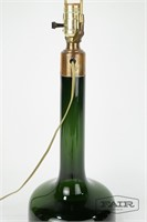 Green Glass Bottle Shaped Lamp