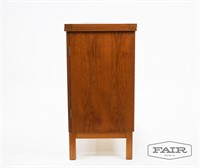 Danish Teak Flip Top Server Bar Cart