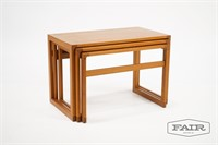 Set of 3 Teak Nesting Tables