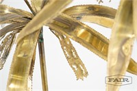 Curtis Jere Style Brass Palm Planted Sculpture