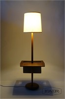 Floor Lamp with Table and Magazine Holder
