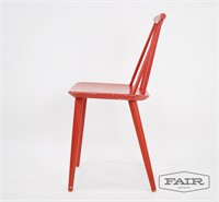 Folke Palsson J77 Red Chair