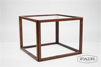 Kai Kristensen Rosewood and Glass Cube Table