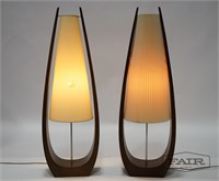 Pair of Tear Shaped Lamps