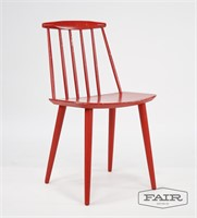 Red Folke Palsson J77 Chair (2)