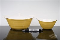 Yellow Cermaic Baker and Bowl