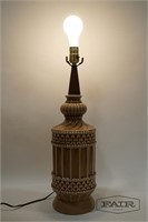 Taupe Glazed Cermaic Lamp