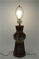 Ceramic Lamp with Multicolored Glaze