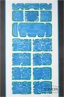 Screen print of Mesoamerican-Style Design