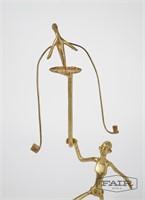 Abstract Metal Balancing Sculpture