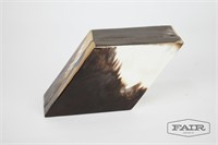 Diamond Box with Horn Veneer and Little Shot Glass