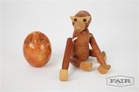 Italian Marble Owl and Viking Japan Monkey
