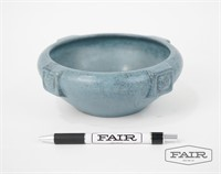 Zanesville Blue Pottery Bowl with Buttressed Sides