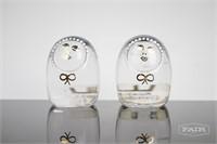 Kosta Sweden Glass Twin Figurines, 1972
