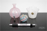 Murano Pink and White Glass Lot