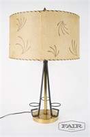 Metal Lamp with Resin Shade