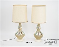Pair of Atomic DuBarry Lamps with Shades