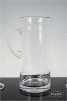 Pair of Flute Glasses and Pitcher