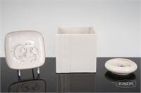 Lot of 3 White Ceramics