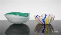 2 Murano Glass Dishes