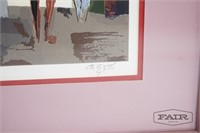 Print or Lithograph of Brothel Scene, Signed