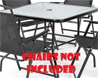 MAINSTAYS CRANSTON FOLDABLE TABLE (NO CHAIRS)
