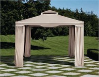 MAINSTAYS SQUARE GAZEBO WITH NETTING 10FT X 10FT