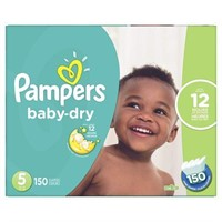 PAMPERS DIAPERS SIZE 5 150 COUNT