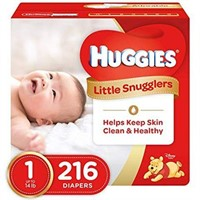 HUGGIES LITTLE SNUGGLERS SIZE 1 (216PCS)