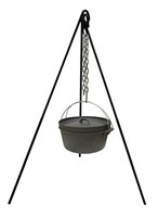 STANSPORT CAST IRON CAMP FIRE TRIPOD: