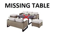 5PC WICKER DEEP SEATING SET MISSING TABLE