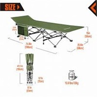 KINGCAMP FOLDING DELUXE CAMPING BED