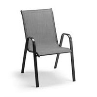 MAINSTAYS STACKING SLING CHAIR WITH FOOTSTOOL